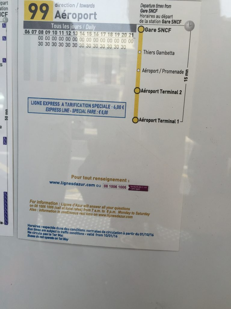 timetable of bus 99