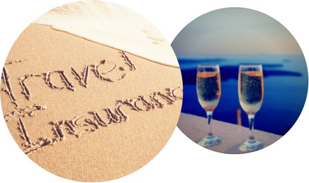 beach and champagne